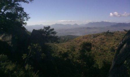 Uitsig vanaf Nkhoma berg